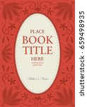 book cover template design with ... | Shutterstock .eps vector #659498935