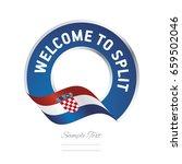 welcome to split croatia flag... | Shutterstock .eps vector #659502046