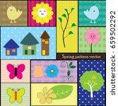 spring pattern vector   Shutterstock .eps vector #659502292