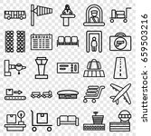 airport icons set. set of 25... | Shutterstock .eps vector #659503216