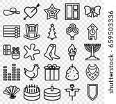 decoration icons set. set of 25 ... | Shutterstock .eps vector #659503336