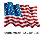 illustration of waving usa flag ... | Shutterstock .eps vector #659504218