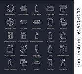 plastic packaging  disposable... | Shutterstock .eps vector #659504512