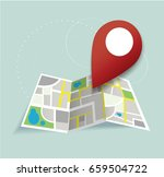 you are here  pin location icon ... | Shutterstock .eps vector #659504722