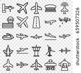 jet icons set. set of 25 jet... | Shutterstock .eps vector #659507326