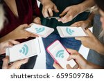 illustration of internet wifi... | Shutterstock . vector #659509786