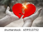two hand holding connecting two ... | Shutterstock . vector #659513752