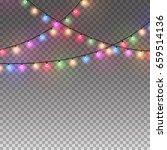 illuminated christmas garlands...   Shutterstock .eps vector #659514136