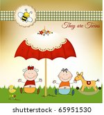 new baby invitation with... | Shutterstock .eps vector #65951530