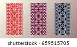 3 seamless patterns. pixel... | Shutterstock .eps vector #659515705