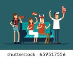 vector flat illustration people ... | Shutterstock .eps vector #659517556