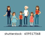 group of mothers with their... | Shutterstock .eps vector #659517568