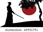 samurai silhouette in front of...