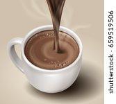 elegant hot brown drink with... | Shutterstock .eps vector #659519506