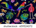 ibis  toucan and parrot n the... | Shutterstock .eps vector #659524372