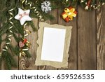 wishing you merry christmas | Shutterstock . vector #659526535