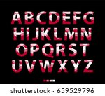 vector of stylized red font and ... | Shutterstock .eps vector #659529796
