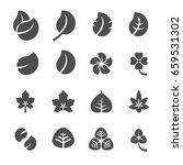 leaf icon set  vector eps10. | Shutterstock .eps vector #659531302