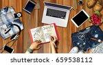 summer beach fun vacation... | Shutterstock . vector #659538112