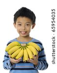 close up smiling boy holding... | Shutterstock . vector #65954035