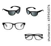 black eye glasses vector on... | Shutterstock .eps vector #659541076
