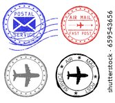 mail stamps for envelopes.... | Shutterstock . vector #659543656