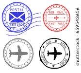 mail stamps for envelopes.... | Shutterstock . vector #659543656