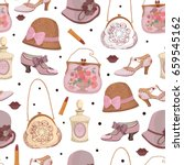 seamless background with retro...   Shutterstock .eps vector #659545162
