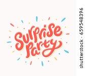 surprise party banner.    Shutterstock .eps vector #659548396