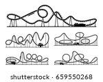 rollercoaster vector... | Shutterstock .eps vector #659550268
