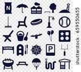 outdoor icons set. set of 25... | Shutterstock .eps vector #659550655