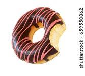 glazed donut or doughnut with... | Shutterstock . vector #659550862