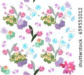 ditsy seamless floral pattern.... | Shutterstock .eps vector #659551012