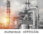 industrial zone the equipment... | Shutterstock . vector #659551336