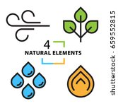 the four natural elements icons ... | Shutterstock .eps vector #659552815