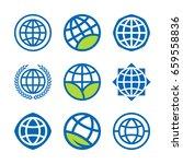 earth globe  global world and... | Shutterstock .eps vector #659558836