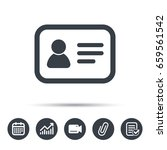 id card icon. personal... | Shutterstock .eps vector #659561542