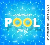 pool party. illustration of... | Shutterstock .eps vector #659561776