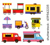 different food trucks set.... | Shutterstock .eps vector #659562235