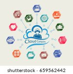 computer cloud with the... | Shutterstock . vector #659562442
