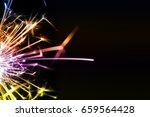 sparkler background   a...   Shutterstock . vector #659564428