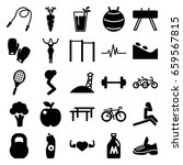 lifestyle icons set. set of 25... | Shutterstock .eps vector #659567815
