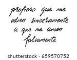 spanish quote lettering phrase... | Shutterstock .eps vector #659570752