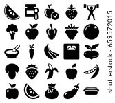 diet icons set. set of 25 diet... | Shutterstock .eps vector #659572015
