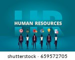business hr concept. human... | Shutterstock .eps vector #659572705