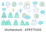vector hand drawn kids fashion... | Shutterstock .eps vector #659575102