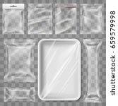 transparent empty plastic... | Shutterstock .eps vector #659579998