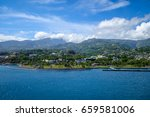 papeete city view from the sea  ... | Shutterstock . vector #659581006