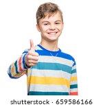 emotional portrait of caucasian ... | Shutterstock . vector #659586166