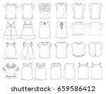 vector illustration of t shirt. ... | Shutterstock .eps vector #659586412